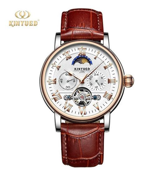 Reloj Para Hombre Automático Tourbillon Cafe Kinyued J029