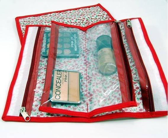 Porta Cosmético Organizador - Estampado Liberto Rojo