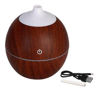 Humidificador Usb Vaporizador Aromaterapia Aire Madera Ofert