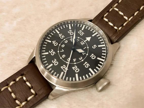 Relógio Tisell Pilot Flieger Estilo Aviador Iwc, Laco, Stowa