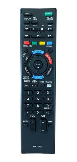 Controle Tv Sony Bravia Kdl40w605b 48w605b Rm-yd101 Netflix