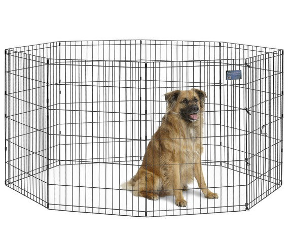 Midwest Exercise Pen, 36-inch, Black