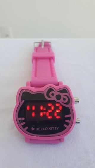 Relógio Infantil Hello Kitty Rosa