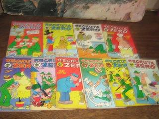 Recruta Zero Ano:1975 Rge Lote Com 10 Edições Originais