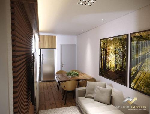 Cobertura Com 2 Dormitórios À Venda, 94 M² Por R$ 389.000 - Campestre - Santo André/sp - Co0825