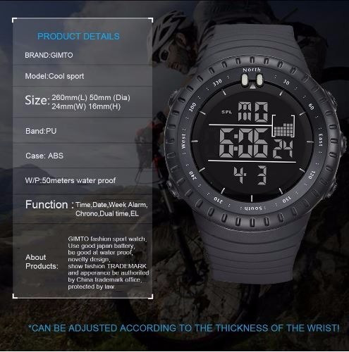 Relógio De Mergulho Relogio Militar Masculino Prova D