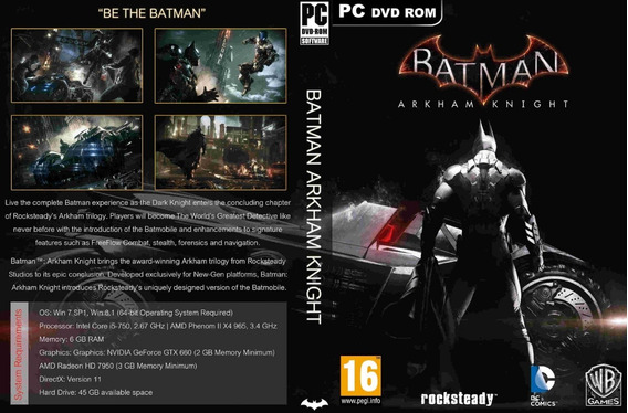 Batman Arkham Collection Pc (mídia Física)