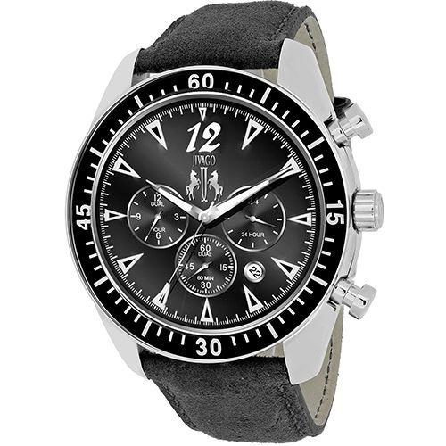 Reloj Jivago Timeless Cuero Negro Multifunción Hombre Jv4511