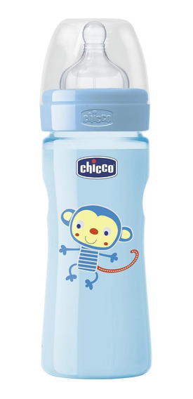 Mamadera Chicco Para Bebes Wellbeing 250ml Silicona +2m