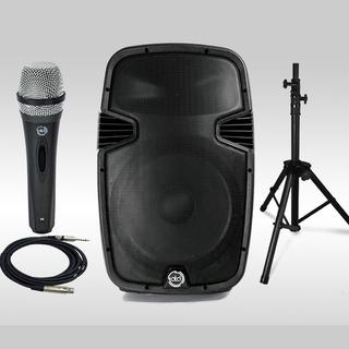 Corneta Amplificada 15 Pulgadas 1500w Bluetooth +mic+paral