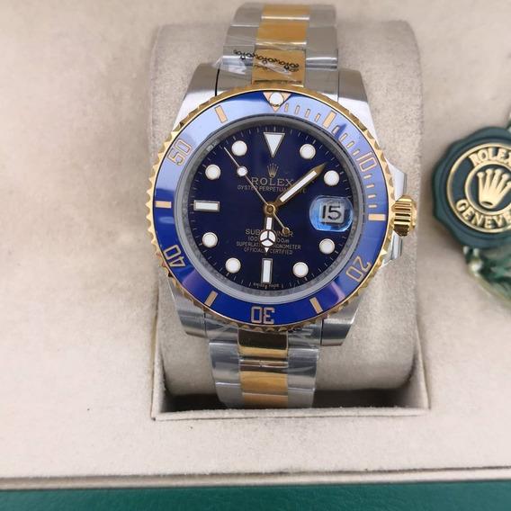 Relógio Masculino R Submariner Misto - Azul Com Caixa Verde