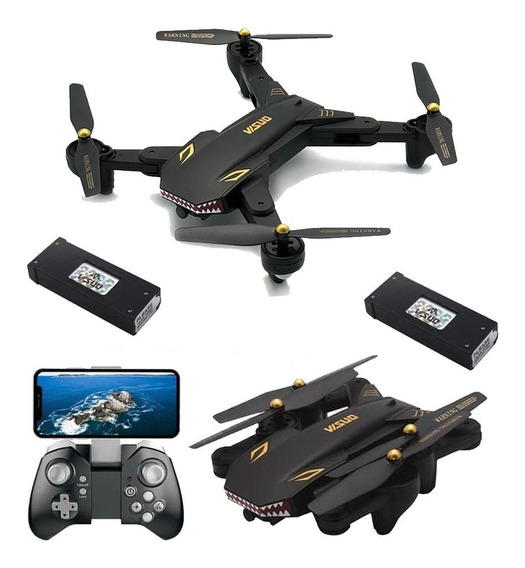Drone Visuo Xs809s - Câmera Wifi Hd 720p - Mavic 40 Min. Voo