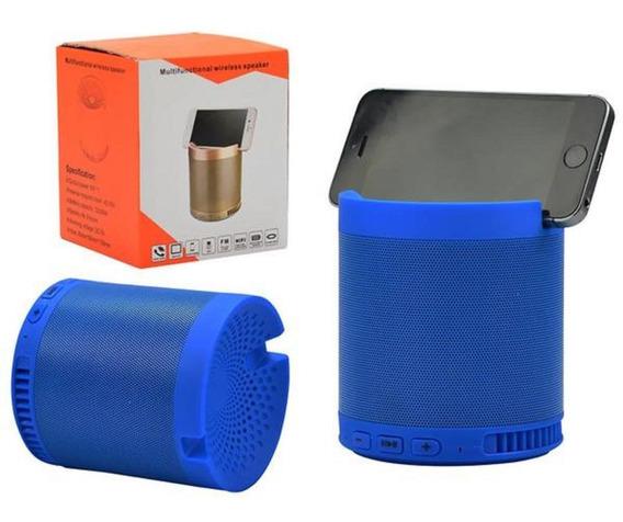 Caixa De Som Bluetooth 5w Entrada Sd Usb Aux Azul Hfq3 Gene