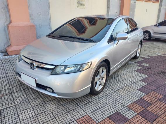 Honda Civic 1.8 Lxs Flex Ano 2007 Completo Banco De Couro