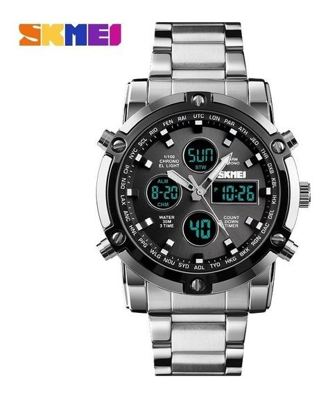 Relógio De Quartzo Analógico Luxo Moda Esporte Inoxidável