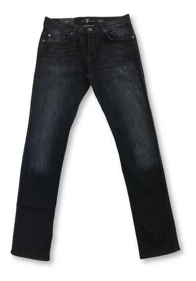 Jeans 7 For All Mankind Chad Luxe Perfomance En Negro - W33