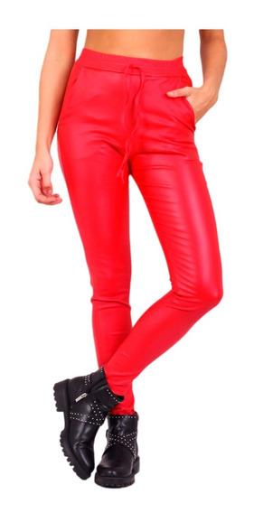 Pantalon Engomado Mujer Tiro Alto Chupin Elastizado Calce