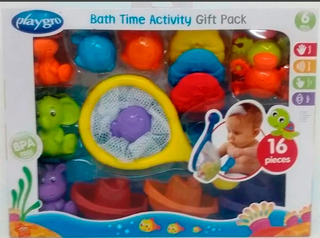 Set Juego Para El Agua Bath Time Pack Playgro Babymovil