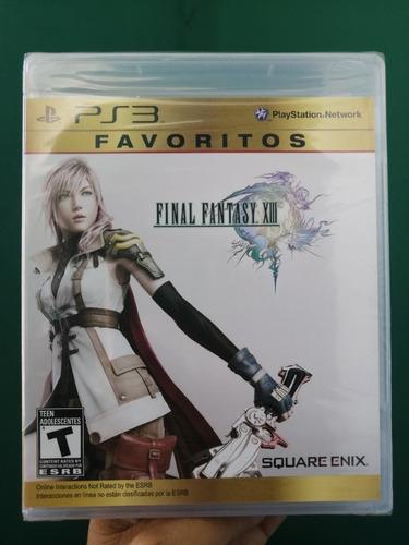 Final Fantasy Xiii Playstation 3 Ps3 Nuevo Y Sellado