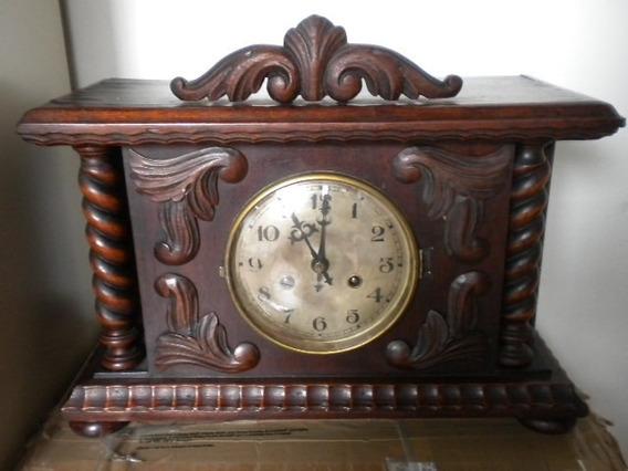 Relógio Antigo Alemão - Todo Original - Peça De Coleção