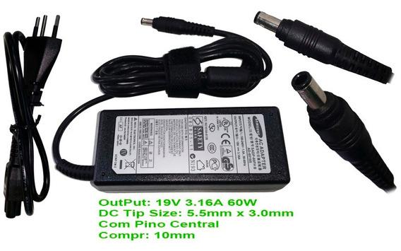 Cabo Carregador P/ Notebook Samsung Rv411 Rf511 305e4 Sm1510