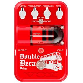 Vox Tonegarage Double Deca Delay Pedal Guitarra Vermelho