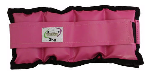 Imagem 1 de 1 de Tornozeleira / Caneleira De Peso 2 Kg  Par Rosa.
