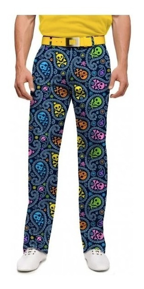 Loudmouth Golf Pantalones Captain Jolly Roger Talla 32
