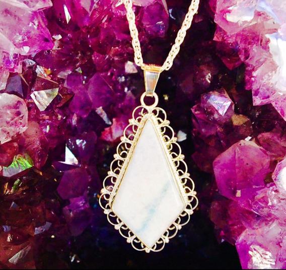 Jade Blanco,violeta,celeste Dije Engarce En Plata Ley 925