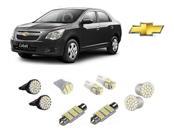 Kit 9 Lampadas Leds Pingo Teto Placa Re Gm Cobalt Ate 2014