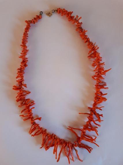 Colar Coral Antigo 52 Cm