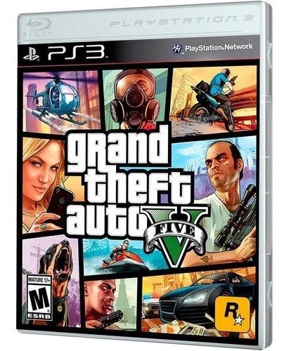Grand Theft Auto Gta 5 Ps3 Mídia Fisica + Mapa Jogo