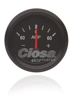 Amperimetro 60 X 60 Bornes Normales 52mm Bisel Negro