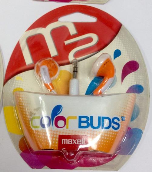 Audifonos Color Buds Maxell Originales