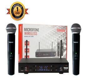 Microfone Profissional Duplo Uhf Digital 60m Bivolt Wireless