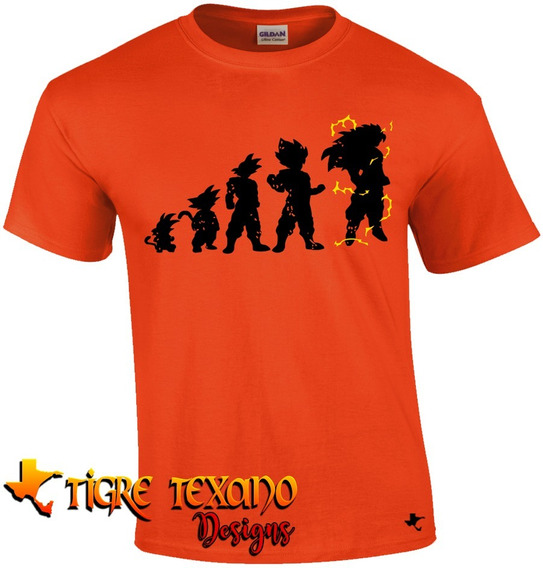 Playera Anime Dragon Ball Evolución By Tigre Texano Designs
