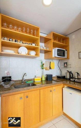 Apartamento Com 1 Dormitório Para Alugar, 44 M² Por R$ 1.480/mês - Centro - Santo André/sp - Ap2409