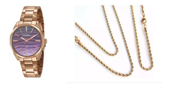 Kit Relógio Feminino Mondaine 53716lpmvre4
