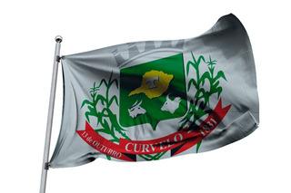 Bandeira Brasil Cidade De Curvelo Minas Gerais Mg Municipio