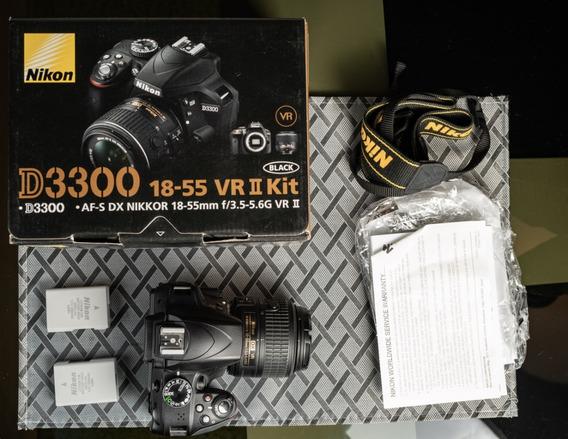 Kit Camera Nikon D3300 + 18-55mm + 2 Baterias + Cartão 32 Gb
