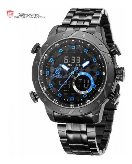 Relógio Elegante Original Importado Esportivo Social Preto Na Caixa Prova D