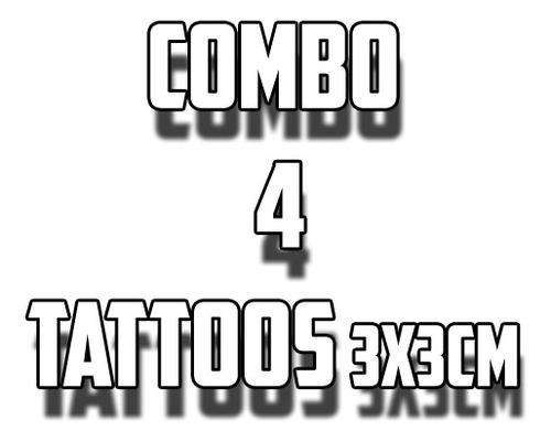 Combo De 4 Tatuagens Feitas Em Nossa Loja Profissionalmente.