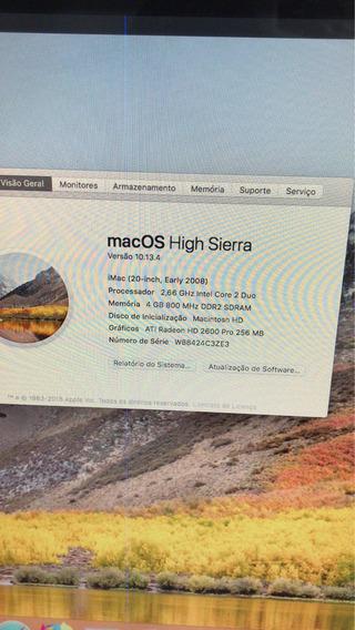 iMac 20 Polegadas 320gb 4gb De Memória