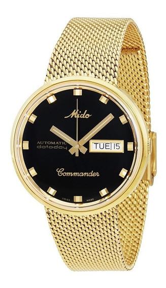 Relógio Mido Comandante I Automático Ouro Amarelo Pvd