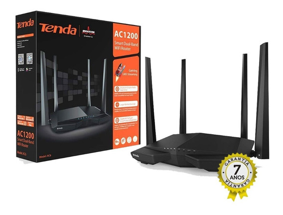 Roteador Tenda Ac6 1200 Mbps 7 Anos Garantia 4 Antenas 5dbi