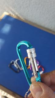 Pack 12 Mosqueton Aluminio Apernado Colores Surtidos + Envio