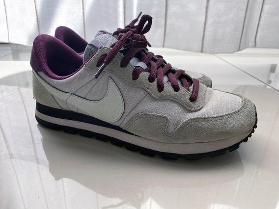 Zapatillas Nike Air Grises Y Púrpuras Talle 37 Banfield