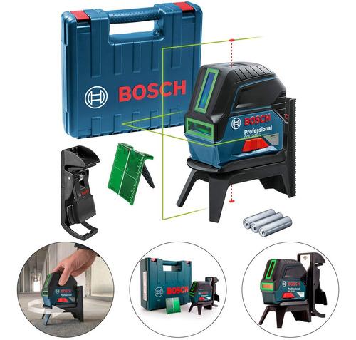 Imagem 1 de 9 de Nivel A Laser Linha E Ponto Gcl 2-15 G Potencia Verde Bosch