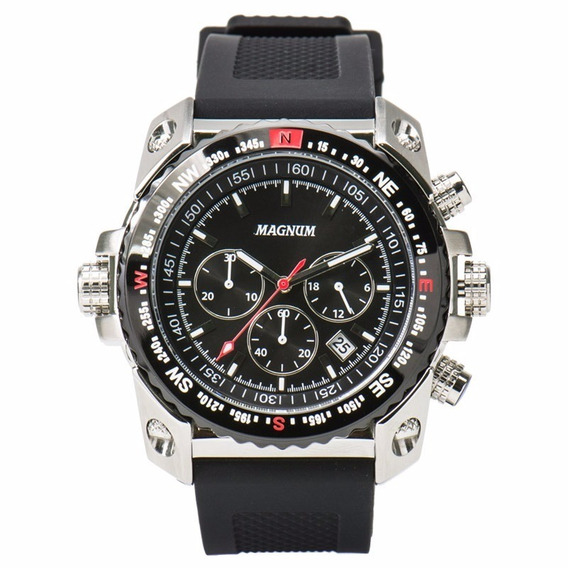 Relógio Magnum Masculino Cronógrafo Ma34209t Aço