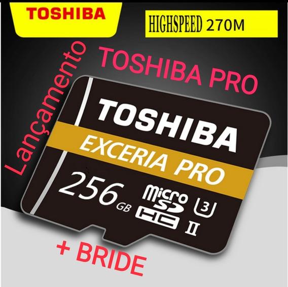 Cartão De Memória 256gb Toshiba Exceria Pro + Bride